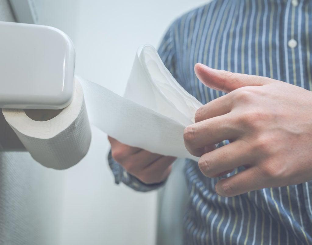 トイレットペーパーの流しすぎ