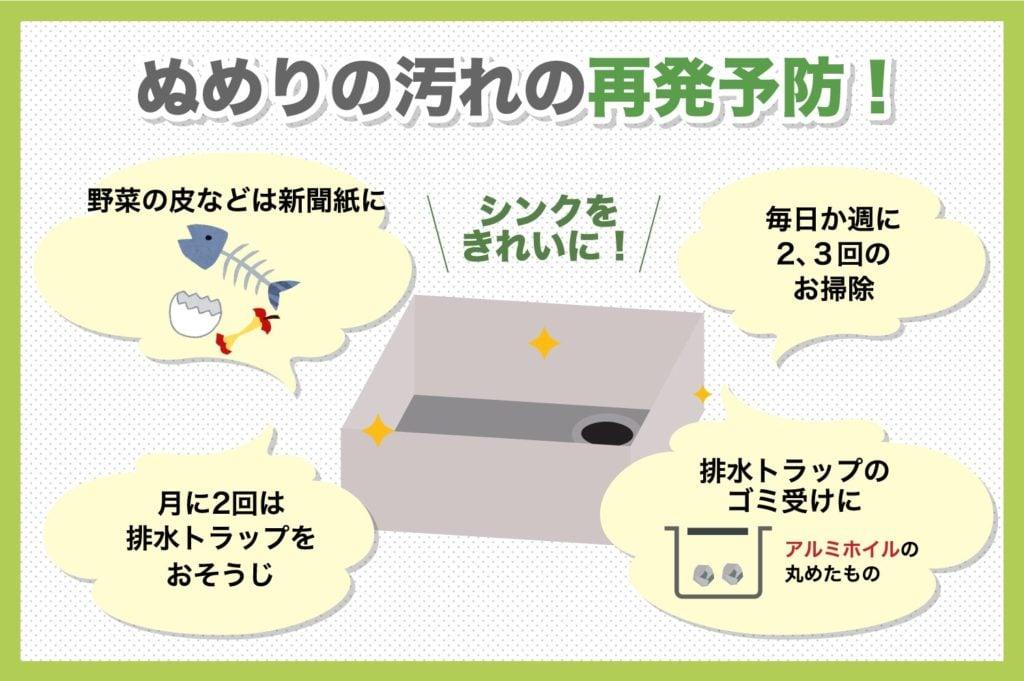 キッチンのぬめり再発防止する5つの方法