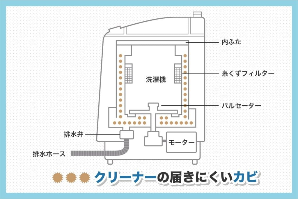洗濯機の構造とカビの問題