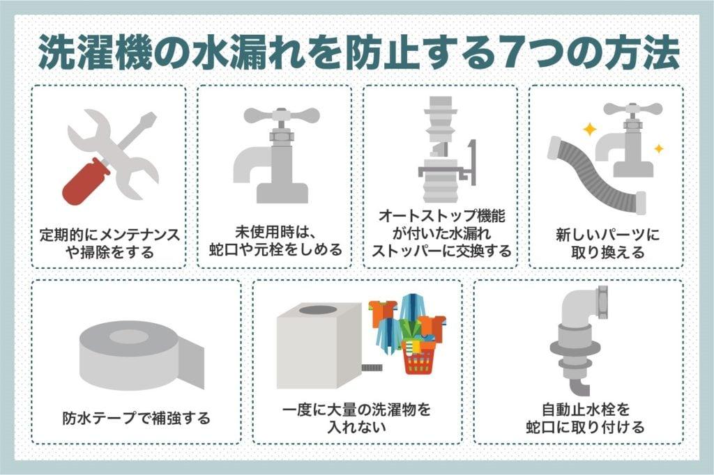洗濯機の水漏れを防止する7つの方法