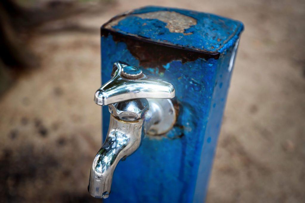 単水栓のサビ